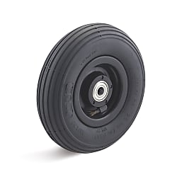 Air wheel with plastic rim, groove profile