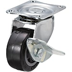 Casters - Light Load - Wheel Material: Urethane - Swivel with Stopper